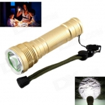 LED Flashlight KINFIRE KF-11 LED 580lm Golden