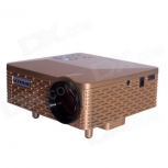Portable LED projector Geekwire LP-6B golden