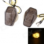 LED turn lights MZ 0.5W 120lm 15-LED for Suzuki brown