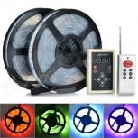 LED Light Strip 144W 6000LM 6000K 600 x 5050 SMD LED RGB + Remote Controller, 2PCS