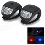 Bicycle 2-LED Red + Blue Signal Lamps