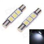 LED bulb T6 28mm 1W 6000K 30lm (12V / 2 PCS)