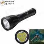Diving LED Flashlight ZHISHUNJIA D39-3T6 2800lm XM-L2 T6