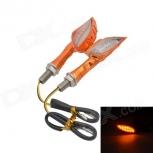 Motorcycle LED turn signals 1W 12-LED 585nm 60lm - Orange (12V / 2pcs)