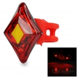 USB Rechargeable 4-LED Red LED Light Bicycle Safety Lamp