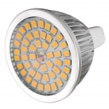 LED spotlight MR16 GU5.3 7W 3000K 640lm 48-SMD 2835 (AC/DC 12V)