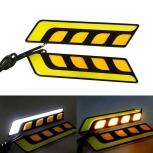 LED Car Daytime Running Lights Jiawen 6W 5-COB