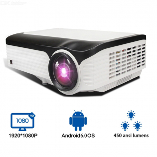 enlarge LED HD Projector Android 6.0 Home Theater