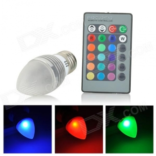 enlarge LED bulb UltraFire E27 3W 70lm 1-LED RGB Light