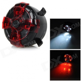 enlarge White + Red Bicycle Bike LED Light Lamp