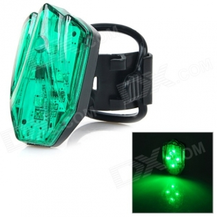 enlarge Green Light LED Warning Tail Lamp for Bicycle HJ-031