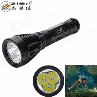enlarge Diving LED Flashlight ZHISHUNJIA D39-3T6 2800lm XM-L2 T6
