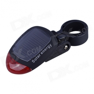 enlarge Solar Energy Rechargeable Red Bicycle Tail Warning Light