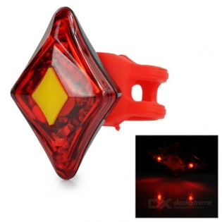 enlarge USB Rechargeable 4-LED Red LED Light Bicycle Safety Lamp