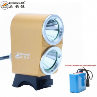 enlarge Bike LED light ZHISHUNJIA K2G XM-L T6 2-LED 1800lm