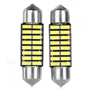 enlarge LED Festoon 36mm 1W 6500K 16-SMD 4014 2PCS