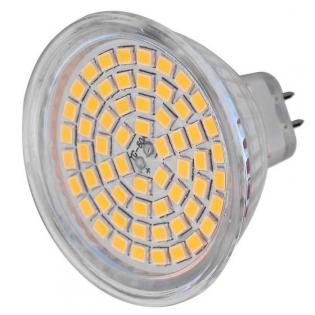 enlarge LED bulb MR16 (GU5.3) 5W 60x 2835 SMD 450lm 3000K (AC / DC 12V)