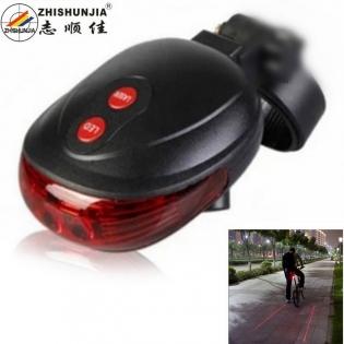 enlarge Red Laser Bicycle Tail LED Light ZHISHUNJIA YWD05
